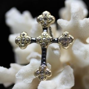 14ktGold Dipped Black/Gold Swarovski Necklace
